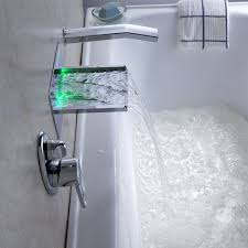 fullsize of antique wall mounted led waterfall bathroom bathtub faucets hand fuacet brasschrome finish wall mounted