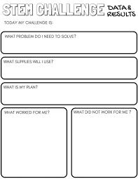 STEM Challenge Worksheets {FREE Printable   Worksheets, Stem ...