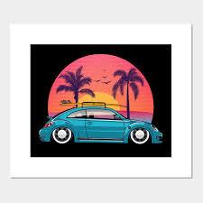 retro vintage surf sunset aloha beach