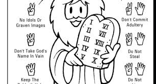 Download 10 Commandments Coloring Pages Getwallpapersus