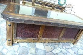 rustic wood office desk. Rustic Desk Furniture Wood Office Lovable Desks Hacienda Tooled Leather Regarding . M