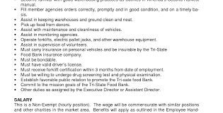 Warehouse Duties How To Write A Prompt Essay Inside Sales Job