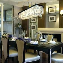 hanging chandelier over dining table how high