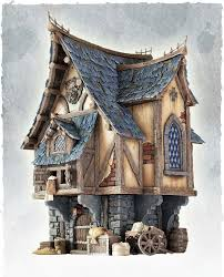 Cool looking scale model of a Merchant's house. A great addition for any  medieval or