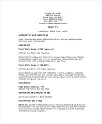 Resume Helper Free Gorgeous Pipefitter Resume Template 28 Free Word Documents Download Free