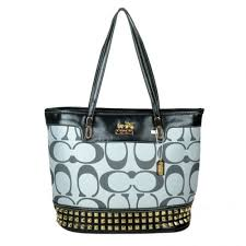 Coach Tanner Stud Medium Grey Totes DKM
