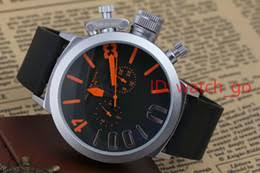left handed watches online left handed watches for luxury brand men s sports black rubber classic u round automatic mechanical self wind left hook hand watch big 50mm boat male watches 2017