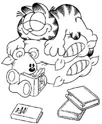 Kleurplaten En Zo Kleurplaten Van Garfield
