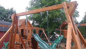 build your own wooden playset plans free swing set to today plan