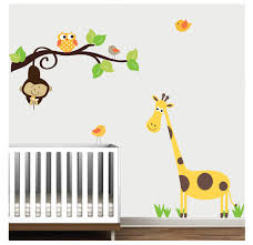 Monkey Bedroom Decorations Kids Room Interior Wall Decoration With Kid Wall Decals For