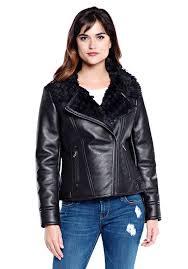 black faux leather fur urbanista jacket