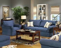 Living Room Furniture Set Blue Living Room Furniture Sets Blue Denim Fabric Modern Sofa
