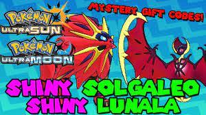 SHINY SOLGALEO & SHINY LUNALA codes for Pokemon Sun & Moon and Ultra Sun &  Ultra moon - YouTube