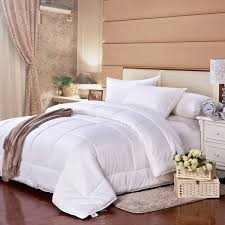 cosette 100 goose down white quilt insert comforter cotton cover soft and warm