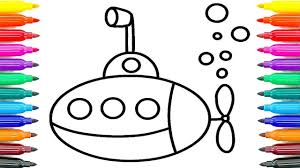 How To Draw Submarine For Kids