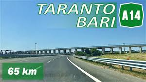 A14 | TARANTO - BARI | Autostrada Adriatica - YouTube
