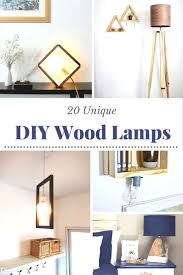 20 Diy Wood Lamps That Will Look Amazing In Your Home Diy Candy