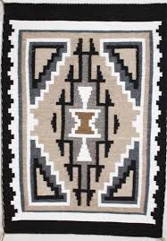 picture of two grey hills navajo rug pj