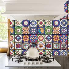 mexican tiles stickers pack of 16 tiles tile decals art for walls kitchen backsplash bathroom