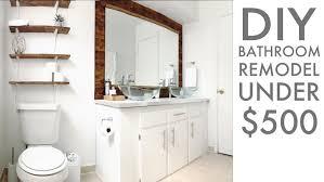 Bathroom Remodel Supplies Gorgeous BATHROOM REMODEL UNDER 48 Modern Builds