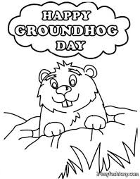 Small Picture Happy Groundhog Day Coloring Popular Groundhog Day Coloring Pages