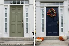 painting a front doorA Simple Fall House Update  How to Paint an Exterior Door  Home