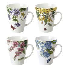 portmeirion botanic garden terrace set of 4 assorted mugs portmeirion usa