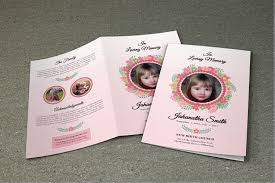 Child Funeral Program Template Child Funeral Program Template Memorial Program Obituary Program 8