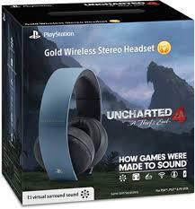 playstation acirc reg gold wireless stereo headset gold wireless headset gray blue