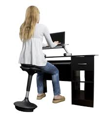 the wobble stool is designed to encourage movement even while sitting and with a max height of 33 you can even use it with your standing desk