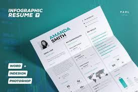 Infographic Resume Cv Volume 7 Premium Resumes