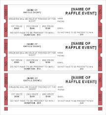 Template For Raffle Tickets To Print Free Sample Raffle Tickets Template Awesome Raffle Ticket Template E