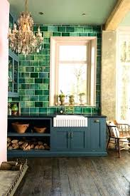green kitchen wall tiles olive green