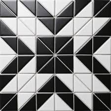 black and white tile pattern. Brilliant Pattern TR2MWBDD02H Artistic Tile Mosaic Pattern In Black And White Tile Pattern T