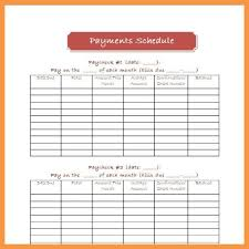 Simple Project Payment Schedule Templates