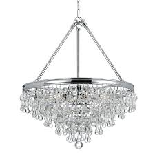teardrop chandelier calypso 8 light crystal chrome parts