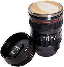 Camera Lens Coffee Mug, Best Photographer Gift, Ideal for Travel, Authentic  Replica of .