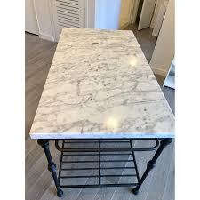 Crate Barrel Marble Top French Kitchen Island Aptdeco