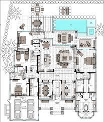 single story house plan brewn