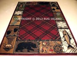 fishing area rugs runner lodge cabin rustic camping fishing fish bear mountain lodge area rugs hunting