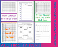 Free Printable Monthly Weekly Daily Calendars Planners