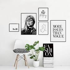 trendy girl vogue picture nordic canvas
