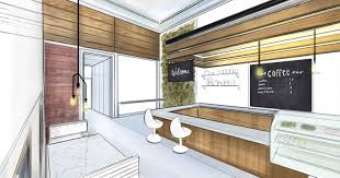interior design drawings perspective.  Design Cafe1 In Interior Design Drawings Perspective U