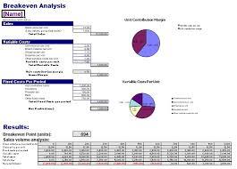 Break Even Template Break Even Analysis Excel Template Excel Tmp