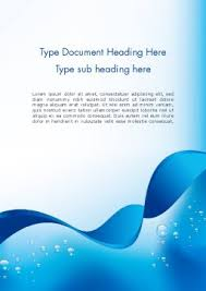 Word Template Cover Page Abstract Sparkling Water Word Template 13460 Poweredtemplate Com