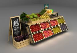 Fruit And Vegetable Stands And Displays Gorgeous Attractive Wooden Shop Display Shelving Fruit And Vegetable Display