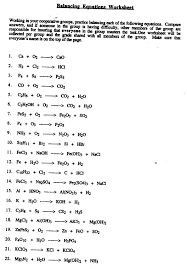 introduction to balancing chemical equations worksheet by answer key