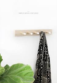 Diy Wood Coat Rack diy simple wood coat rack almost makes perfect 99