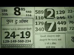 Kalyan Patrika Chart Videos Matching 22 10 18 Saptahik Kalyan Mumbai Paper Chart