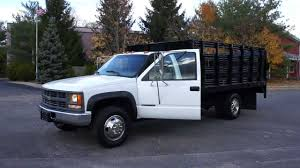 2000 Chevy 3500 4x4 Rack Body Truck For Sale~BRAND NEW 6.5L Turbo ...